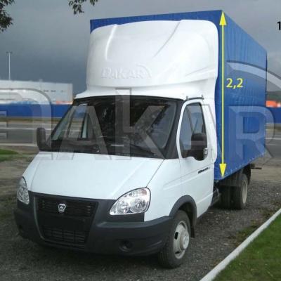 Обтекатель на Газель фургон  2.2 м модель 1-м (137) (эконом)