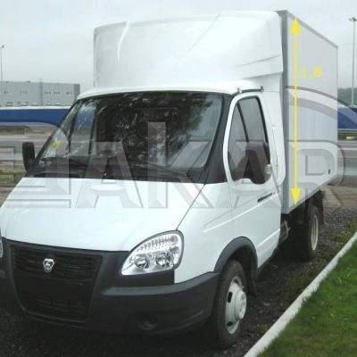 Обтекатель на Газель фургон 1.8м модель 3-д (эконом)