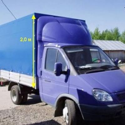 Обтекатель на Газель фургон 2.0м модель 7-е (эконом)