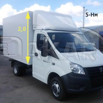 Обтекатель на грузовики Газель Некст 2 м, модель 5-Нм