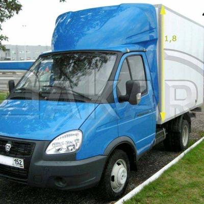 Обтекатель на Газель фургон 1.8м модель 4-д (эконом)